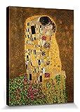 1art1 Gustav Klimt - Der Kuß II Poster Leinwandbild Auf Keilrahmen 80 x 60 cm
