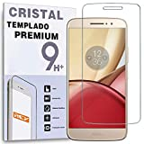 REY Protector de Pantalla para Motorola Moto M, Cristal Vidrio Templado Premium