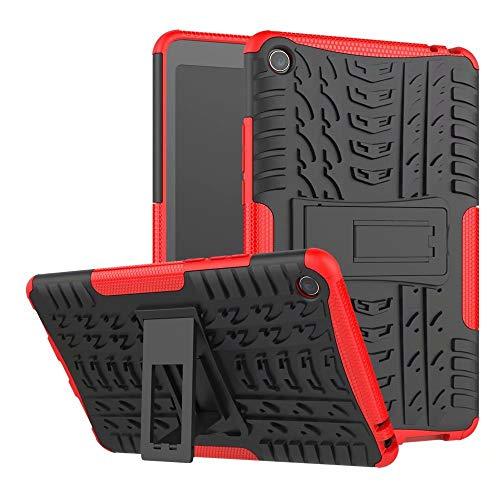 weichunya Hyun patrón de Doble Capa híbrido Armor Kickstand 2 en 1 Caja de la Tableta a Prueba de choques for Xiaomi Mi Pad 4 / Mipad 4 (8,0 Pulgadas) (Color : Rojo)