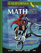 McDougal Little Math Algebra 1: California (McDougal Littell Middle School Math)