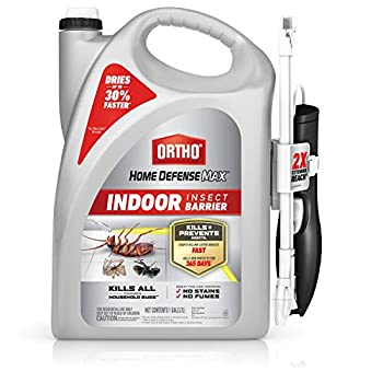 Ortho Home Defense Max Indoor Insect Barrier  Starts to Kill Ants Roaches Spiders Fleas & Ticks Fast 1 gal.