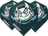 Winmau Darts Sport Mega Standard Flights Pack 10 - Grün Graffiti, One Size