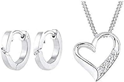 DIAMORE Earrings Women Classic Hoops Diamond (each 0.02 ct.) 925 Sterling Silver