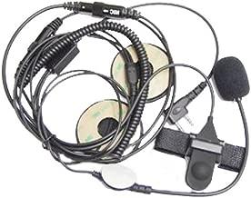 2 Pin Open/Half Face Motorcycle Bike Helmet Earpiece Headset Mic Compatible for Kenwood Two Way Radio Walkie Talkie K-208, Tk-220, Tk-240, Tk-240D, Tk-248, Tk-250, Tk-260,Baofeng UV 5R Wouxun Puxing