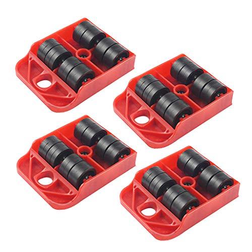 FangWWW 4 piezas Moves Muebles Herramienta Transporte Shifter Moving Rueda Slider Remover Roller Heavy