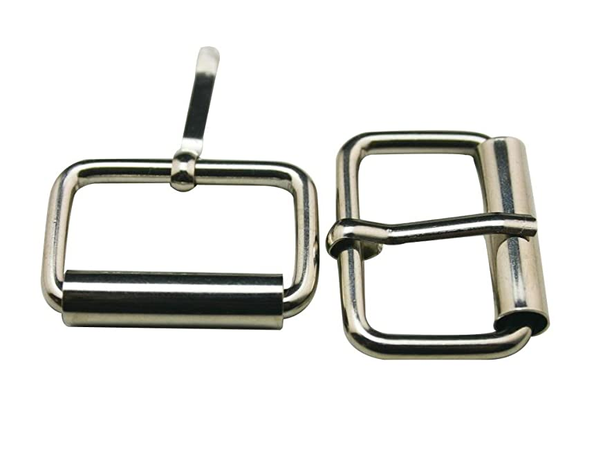 Generic Metal Silvery 1 Inch Inside Length Rectangle Buckle belt Buckle Handbag Buckle Luggage Accessories(Pack of 15)
