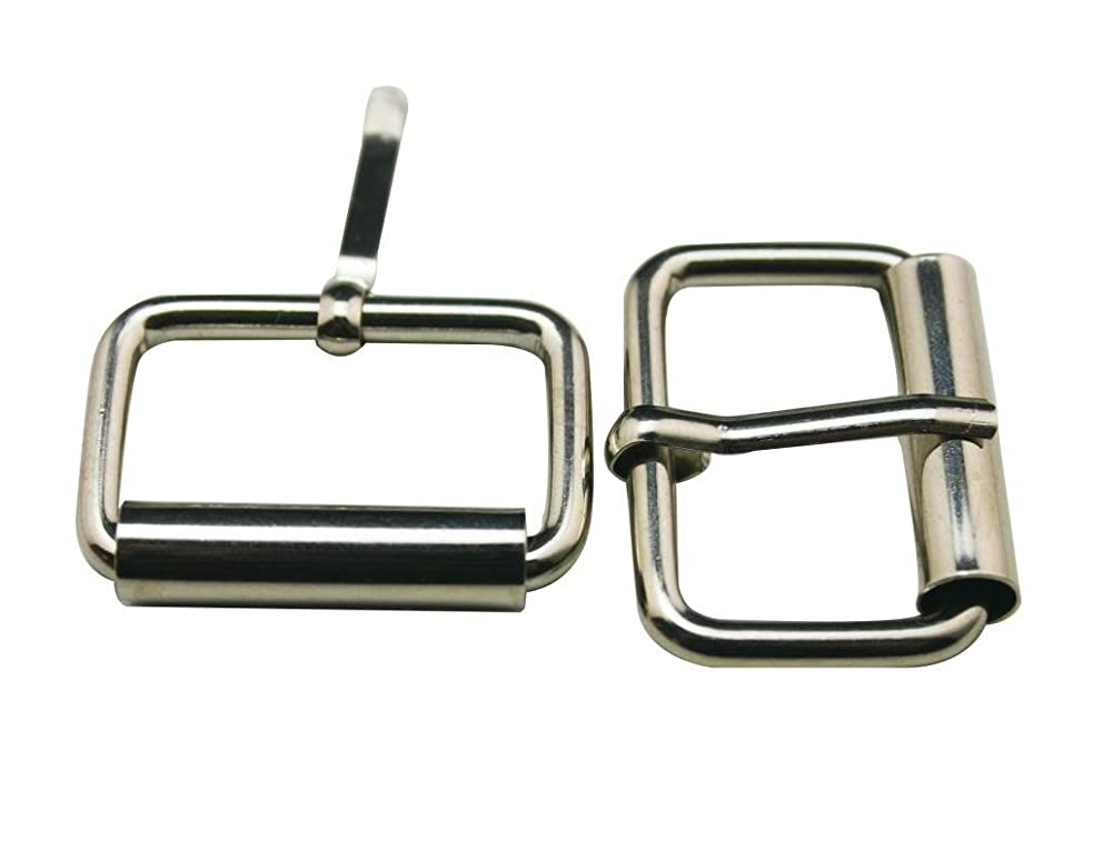 Generic Metal Silvery 1 Inch Inside Length Rectangle Buckle belt Buckle Handbag Buckle Luggage Accessories(Pack of 15)