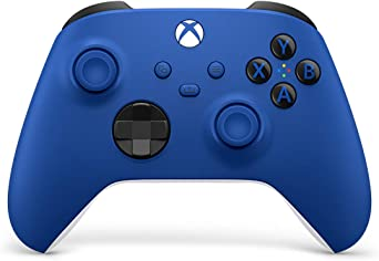 Xbox Wireless Controller – Shock Blue for Xbox Series X|S, Xbox One, and Windows 10 Devices