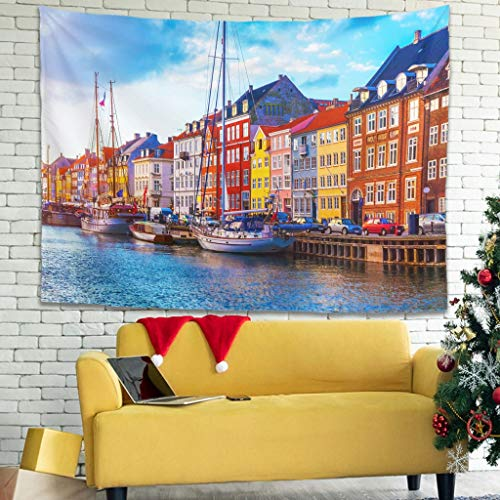 XunYun City Popular Handicrafts - Colcha de pícnic con decoración étnica para sala de estar, dormitorio, decoración de dormitorio, color blanco, 149,9 x 129,5 cm