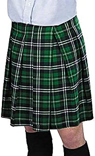 Amscan St. Patrick's Day Adult Green Plaid Kilt   Party Costume