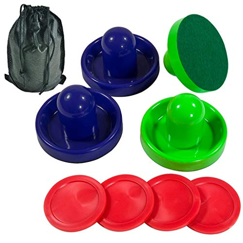 Affordable Lemon home Two Colored of Air Hockey Pushers and Red Air Hockey Pucks, Goal Handles Paddl...