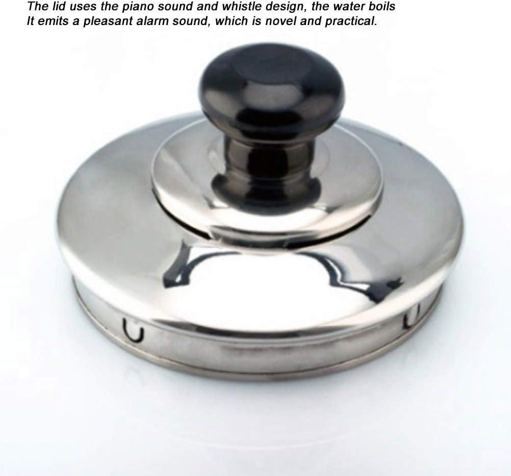 Waterkoker, theeketel voor roestvrij staal, ergonomische fluitende theepot, geschikt voor thee en koffie, huishoudelijke theepot met grote capaciteit (kleur: zilver, maat: Silver