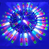 Zeagro - Dispositivo/juguete volador con luz LED, con tirachinas para lanzarlo, las aspas dan vueltas en el cielo