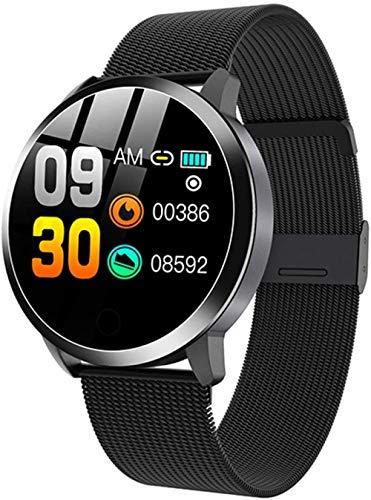 Reloj inteligente de oro rosa, electrónico, para hombre y mujer, resistente al agua, deportivo, pulsera de fitness, reloj inteligente adecuado para Android IOS-G