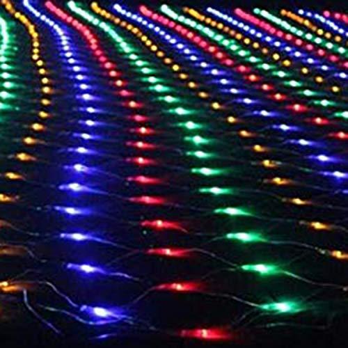 xihongshi 3 m x 2 m204, led-lichtnet, vislicht, buitenverlichting, decoratief licht, waterdicht, sterrenhemel en feestverlichting voor mesh Kleur: zwart/bruin,