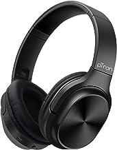 pTron Studio Classic Over Ear Wireless Headphones Bluetooth 5 0 Hi Fi Sound with Bass 20Hrs Playback Ergonomic Foldable Wireless Headset Soft Cushions TF Card Slot Aux Port Black