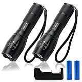 Best Waterproof Flashlights - DONLYN LED Flashlights for Emergencies[2 Pack], [Can be Review
