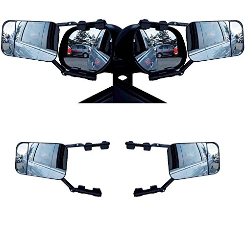 Toolzy 100263 - Juego de 2 espejos retrovisores para caravana