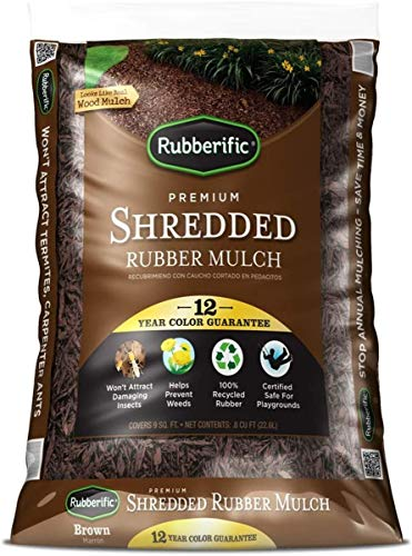 Rubberific Rubber Mulch Bagged Brown (New Version (Brown)) -  International Mulch