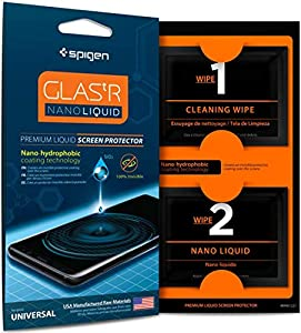 Spigen, Liquid Coating Protector for All Devices, iPhone X / 8 Back Protector, Compatible with Xperia XZ, Moto G5, Pixel 2 Screen Protector, Nano Liquid, Huawei P10, LG V30, Galaxy,Tablet (000GL21813)