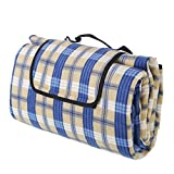 ALLWA Extra Large 69x79 Inch Classic Plaid 2nd Generation Picnic Outdoor Blanket Mat - Fold with Waterproof Backing for Beach