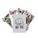 Póker personalizado Puño negro del patrón del gesto que juega el juego de tablero mágico de la diversión de la tarjeta