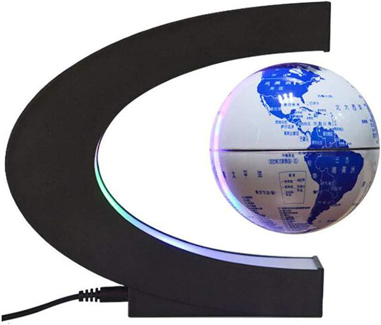 Izzya Magnetisch Schwebe Schwimmend Globus Weltkarte Tischlampe Anti Schwerkraft LED Licht Drehen Ball Blaues Und Weies Porzellan Stil Schreibtischdekoration