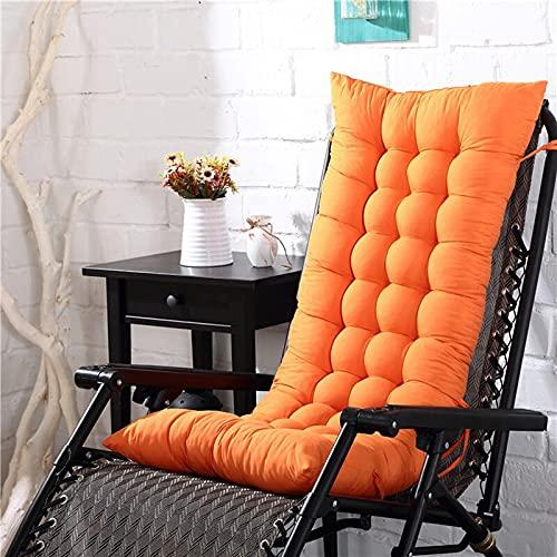 LikeGoods66 Cojín reclinable para silla de jardín, sofá reclinable de algodón, para exteriores, respaldo alto, diseño extendido para la mayoría de sillas de sol o jardín (naranja, 48 x 125 – 1 unidad)