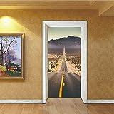 Altopiano Highway Door Sticker Murale Art Poster Porta Creativa Adesivi Decalcomanie Per Soggiorno Camera Da Letto Decorazione Della Casa 3D
