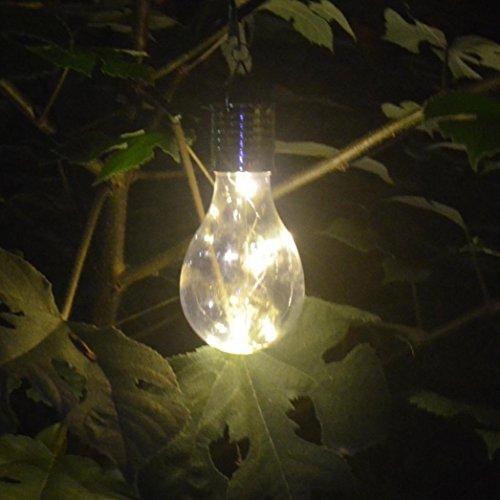 Bluestercool Ampoules Imperméable Solaire Rotatif De plein air Jardin Camping Lumière LED suspendue
