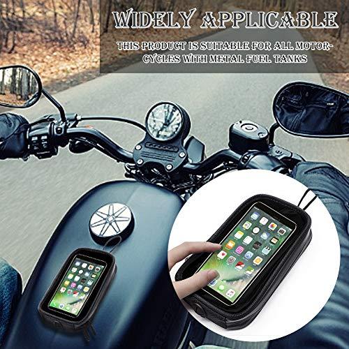 Handyhalterung Fahrrad Motorrad-Tankrucksack, Universal Motorrad Magnet Tank Handyhalter Tasche mit Transparent Fenster, Wasserdicht Motorrad Handytasche Tankrucksack für Motorrad