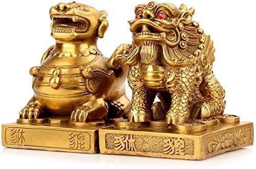 Un par de sujetadores puros PiXiu / PiYao, estatuas chinas de feng shui, estatuilla coleccionable para el hogar y la oficina, decoración de feng shui que atrae la riqueza y la buena suerte escultura