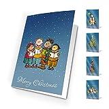 Unicef XR15280976 Biglietti di Natale Winter Games, Confezione da 10 biglietti