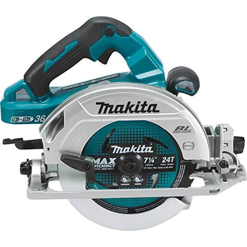 Makita DHS782Z Sierra Circular BL 18VX2 LXT 190MM, Multicolor/sin batería y Cargador, 18 V