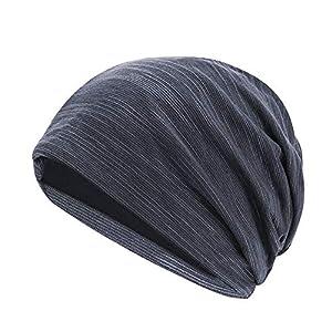 FANVS ニット帽 春秋冬用 防寒 シンプル ふんわり 薄手柔らかい かわいい 綿 男女兼用 ユニセックス(ダークグレー)