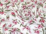 Minerva Crafts Morrocaine Kreppstoff, elfenbeinfarben,