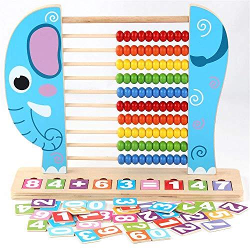Bloque de madera juguetes educativos con cuentas laberinto rusa rusa rusa juguetes educativos para niños círculo de bebé habilidades de cuentas mejoradas juguetes de madera (color: azul, tamaño: tamañ