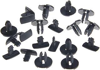 confezione da 10 colore: Bianco VVO Fasteners Clip di fissaggio per strisce laterali in plastica