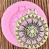 Vioyo Glitzer Amulett Sonne Anhänger Schlüsselanhänger Form DIY Herstellung Schmuck Glitter...