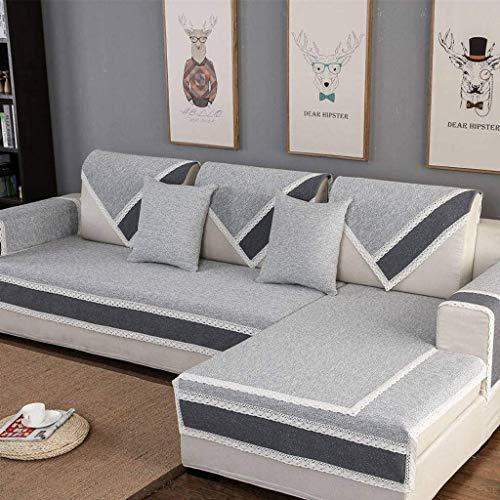 Jonist Funda de Lino para sofá, Jacquard Simple y Elegante para Sala de Estar, Funda Antideslizante para Muebles, Shield-A-70X150cm