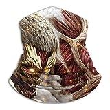 AEMAPE Att-ACK-On-Titan Cubierta Facial Escudo Calentador de Cuello Bufanda para el Cuello Cinta para la Cabeza Multifuncional Pañuelo para la Cabeza Pasamontañas Protectores bucales Transpirable -WX