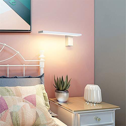 YBWEN Led-spiegel-voorlamp, wandlamp, sproeilamp, acryl schaduw, minimalistische decoratie voor slaapkamer, woonkamer, café, met opbergruimte