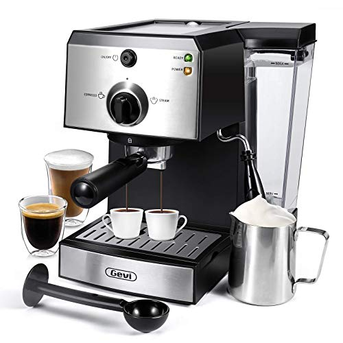 Gevi Espresso Machines 15 Bar Fast Heating Cappuccino Coffee Maker with...