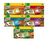 Knorr Stock Cubes Collection – (pollo – 8 x 10 g, carne de vacuno – 8 x 10 g, pescado – 8 x 10 g, cordero – 8 x 10 g)