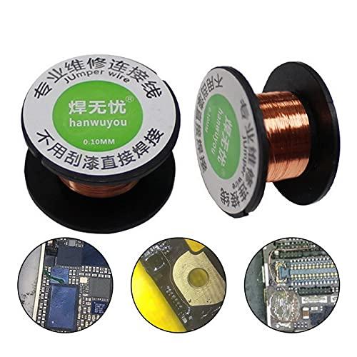 5 unids/Set 0.1mm Soldadura de Cobre Soldadura de Alambre PPA Reparación esmaltada Reel de Soldadura Alambre de Soldadura 15 M Longitud DIY Barra de Soldadura esmaltada de Cobre (Color : 5roller)