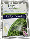 Davis Finest Indigo Powder for Hair Dye, Natural Black Henna Hair Colour,...