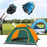 LHLHO 2 Person Instant Pop Up Lightweight Camping Tent, Outdoor Easy Set Up Automatic Family Travel Tent,Portable Backpacking Ultralight Waterproof Windproof Anti-UV Sun Shelter Tent (Orange&Green)