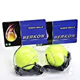 Apark Tennis Ball and String Replacement For Tennis Trainer, Great for Indoor and Outdoor Tennis Practice (2 pack)
