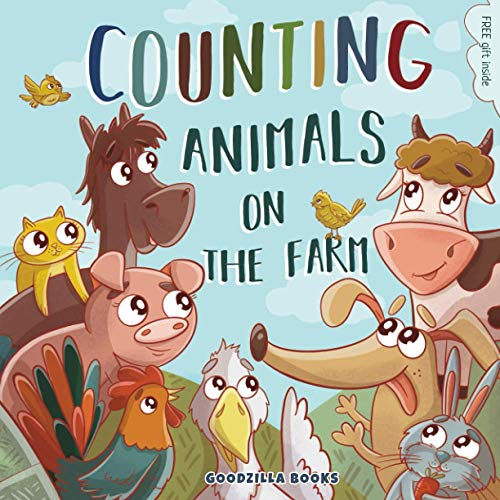 Counting Animals on the Farm: Counting book for kids, Learn numbers from 1 to10, Counting Animals
