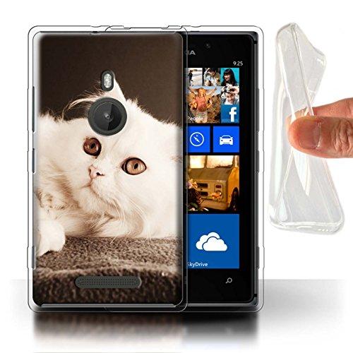 Stuff4 Gel TPU Hülle/Case für Nokia Lumia 925 / Perser Lange Haare Katze Muster Katze/Katzenrassen Kollektion